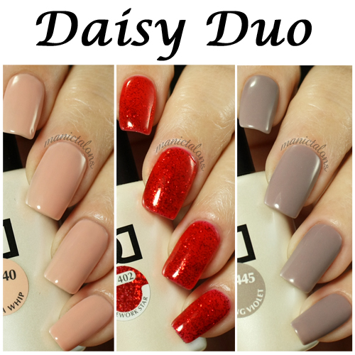 Daisy Duo Swatches Bold And Soft Shades