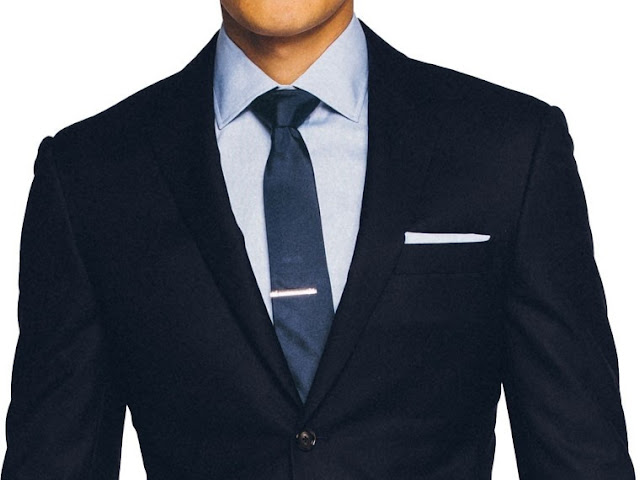 Indochino Deep Navy Blue Twill Suit