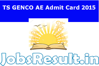 TS GENCO AE Admit Card 2015