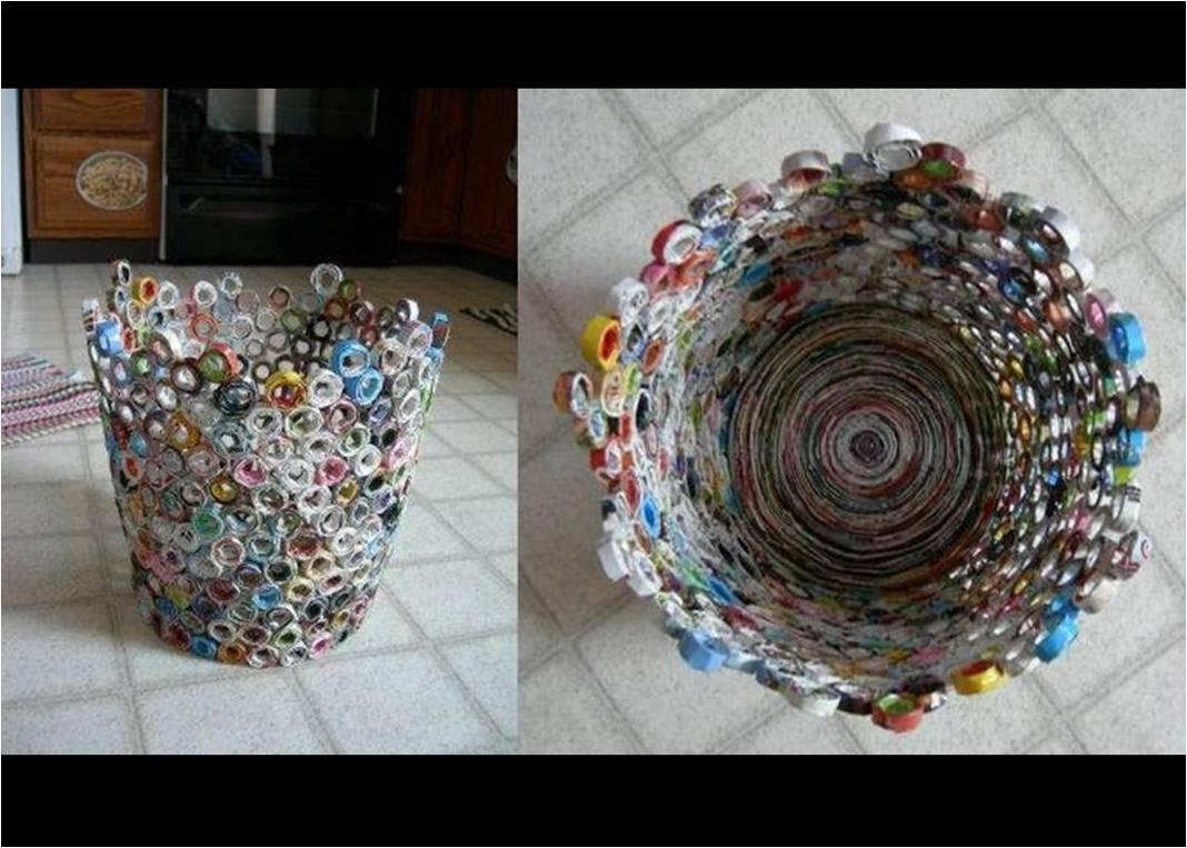 Manualidades artesan as reciclado tejido y mas - Manualidades con papel periodico paso a paso ...