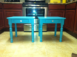 Teal Side Tables **SOLD**