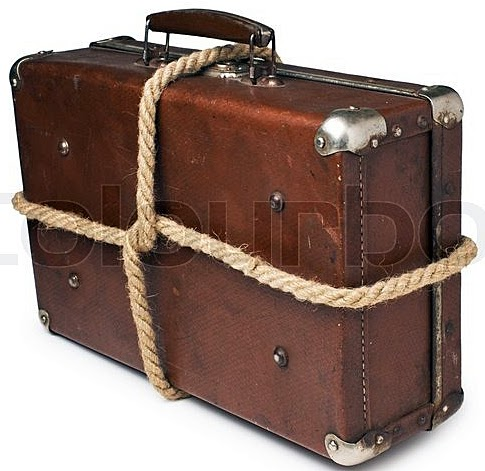 Similar to the luggage on my bus. Only more torn up and thinner rope and tons of twine!