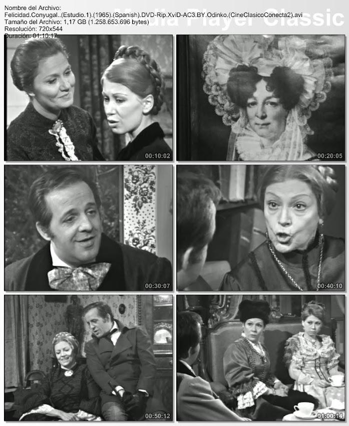 Felicidad Conyugal (Estudio 1) (1965) | secuencias de la obra de teatro