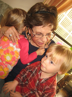 Maximilian and Artemis with Abuela