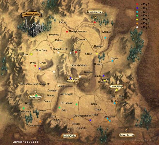 Knight Online Anahtar Görevi Karus Haritası