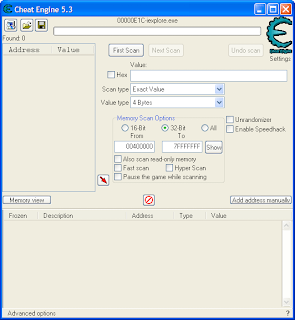 cheat game with cheat engine 5.3, 5.5