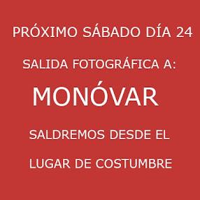 SALIDA A MONÓVAR