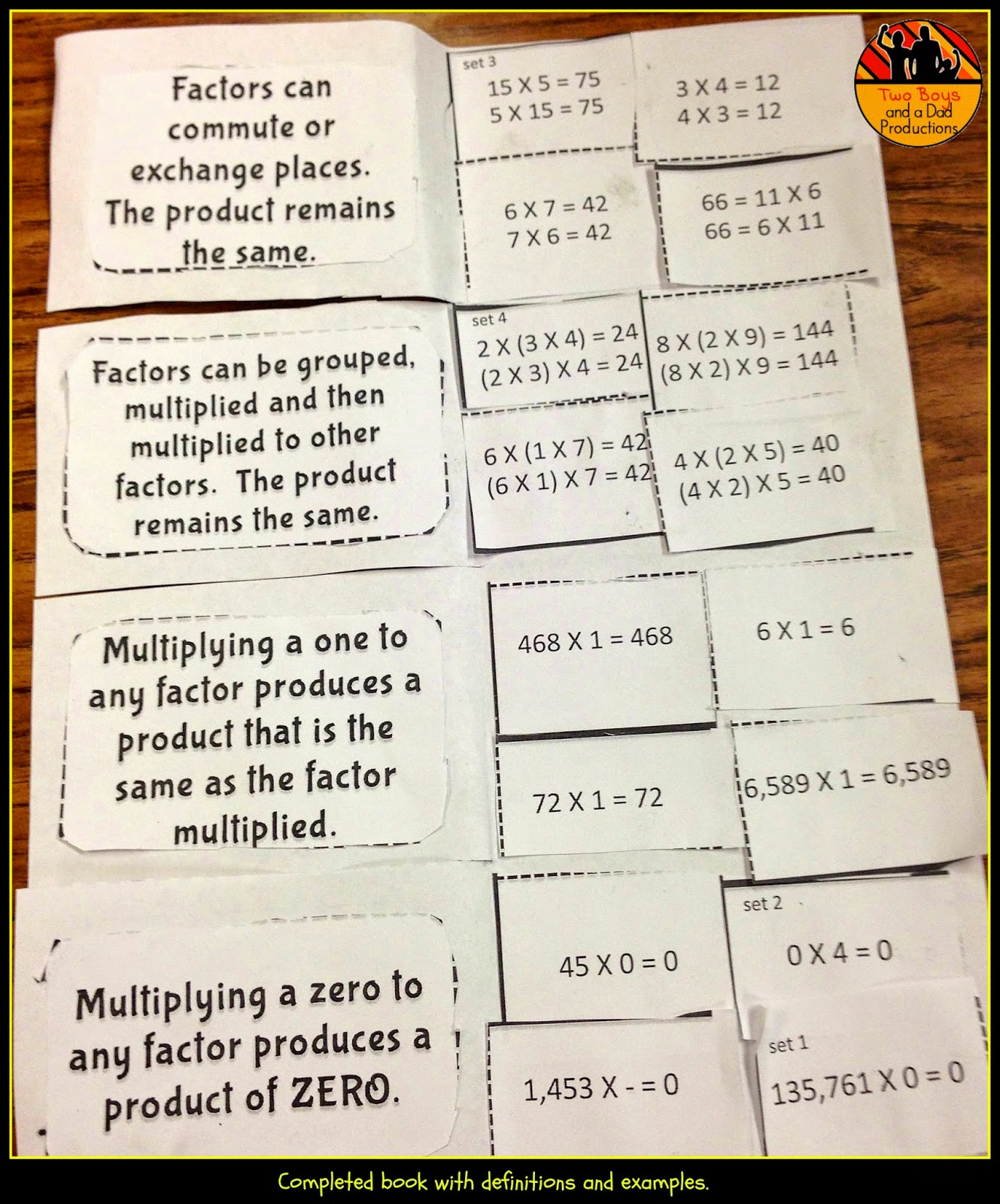 Two Boys and a Dad Productions – Associative Property of Addition Worksheets 3rd Grade