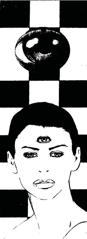 Mulher com três olhos. Imagem retirada da página 32 do Mago 2ª Edição.