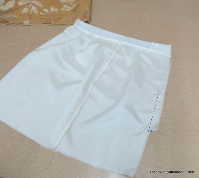 falda forrada