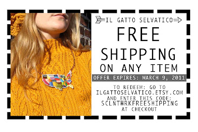 ilgattoselvatico embroidered leather and metal jewelry free shipping coupon
