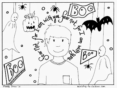 Halloween Sunday School Coloring Pages