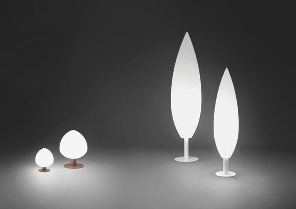 Vibia ha creado una gran variedad de luces muy modernas para exteriores, y las que hoy presentamos son de un estilo contemporáneo e inusual, imitando la forma de los árboles.