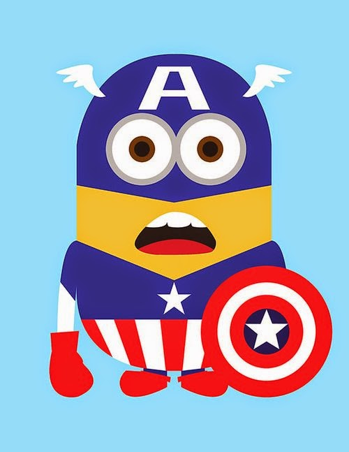 12-Captain-America-Kevin-Magic-Lam-The-Minions-Despicable-Me-Superheroes-www-designstack-co