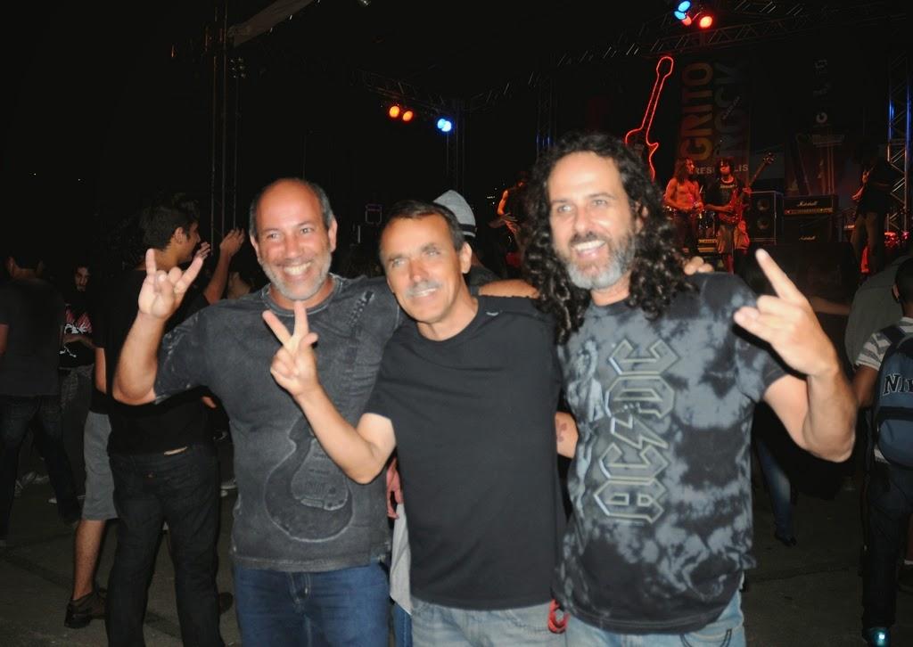 Arnaldo Almeida, Wanderley Peres e Octavio Albuquerque comemoram o sucesso do evento