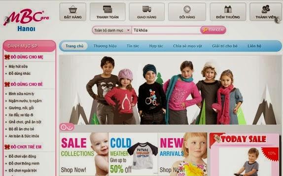 thiết kế website bán hàng cho bé đẹp