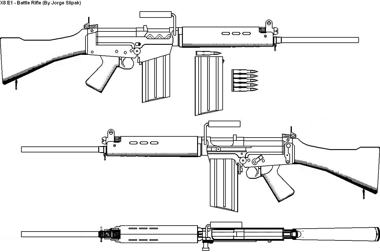 Diagrama02 Rifle L1A1 x8e1 the l1 a1 infantry rifle blueprints