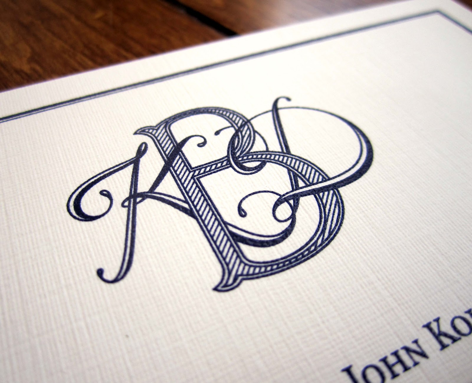 tailored may 2012 With custom monogram letters