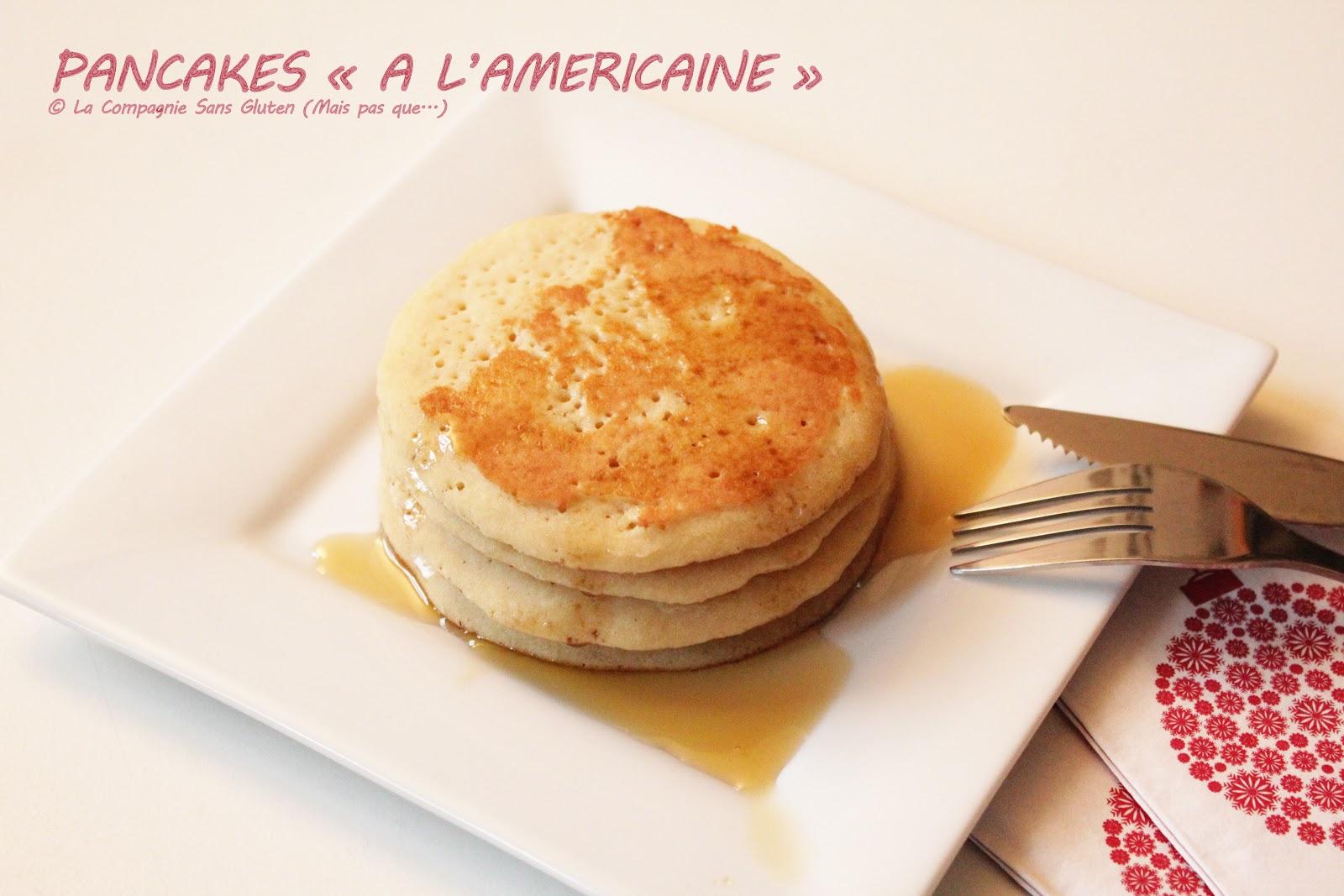 pancakes l 39 am ricaine sans gluten et sans lait la compagnie sans gluten un blog sans. Black Bedroom Furniture Sets. Home Design Ideas