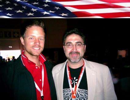 Sam Bazzi of Arcs, right, with Sander Boom