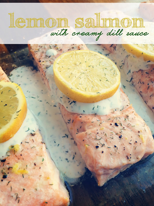 Lemon Salmon With Creamy Dill Sauce