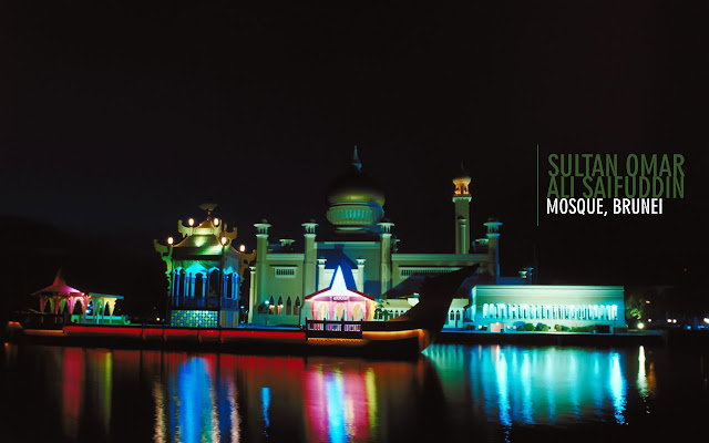 Brunei Sultan Omar Ali Saifuddin Mosque Wallpapers