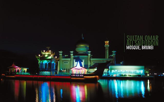 Brunei Sultan Omar Ali Saifuddin Mosque Wallpapers