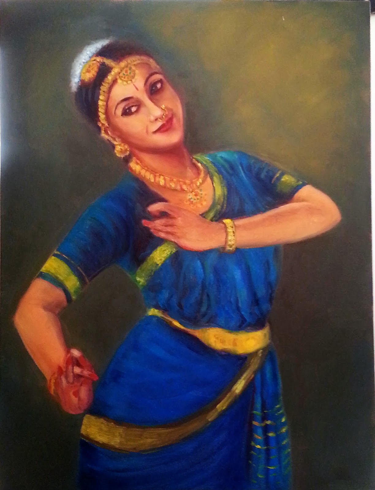 An Artist At Bangalore: Krishna - Oil on canvas ...