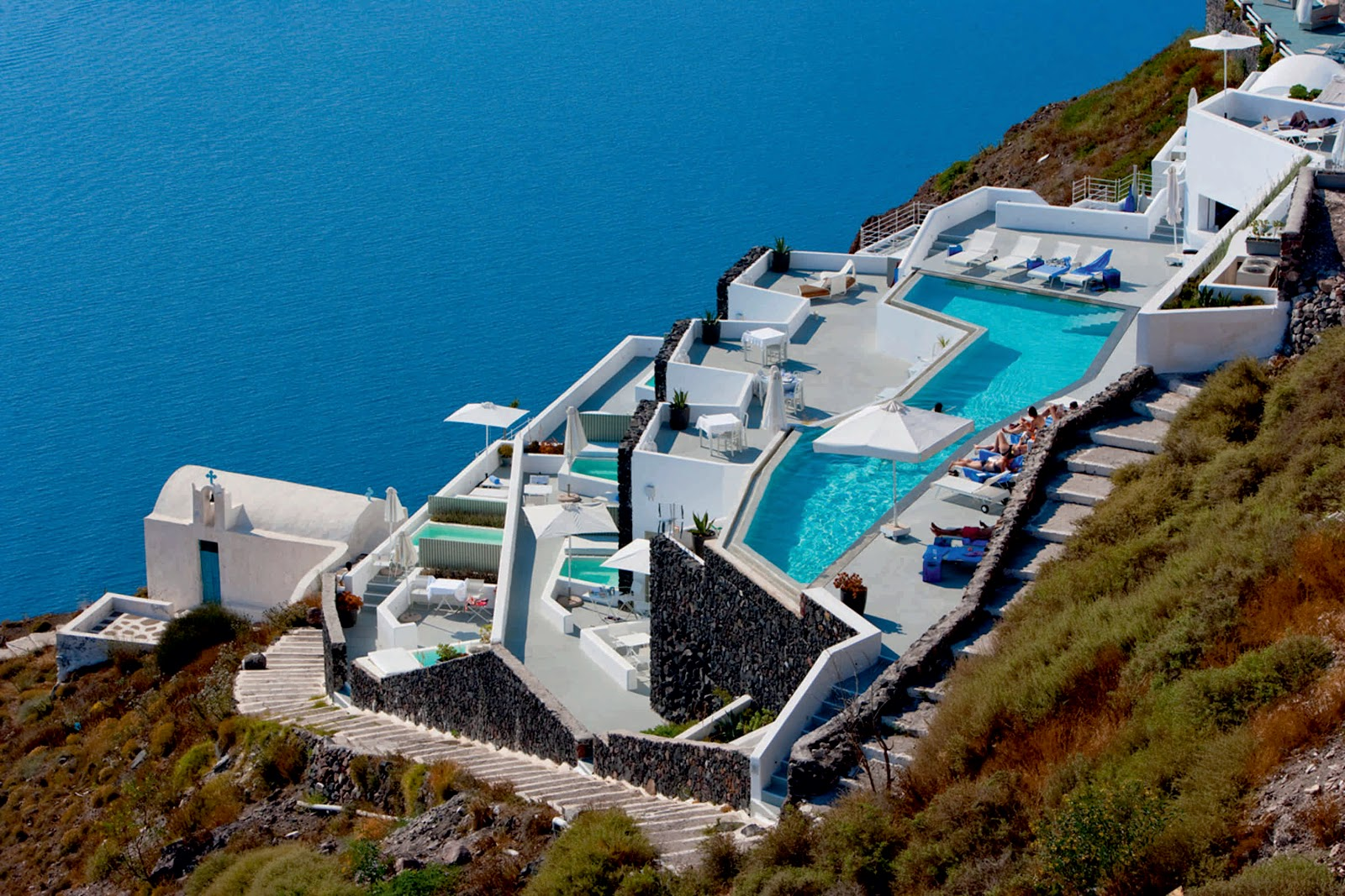 Grace santorini hotel by divercity architects for Hotels santorin