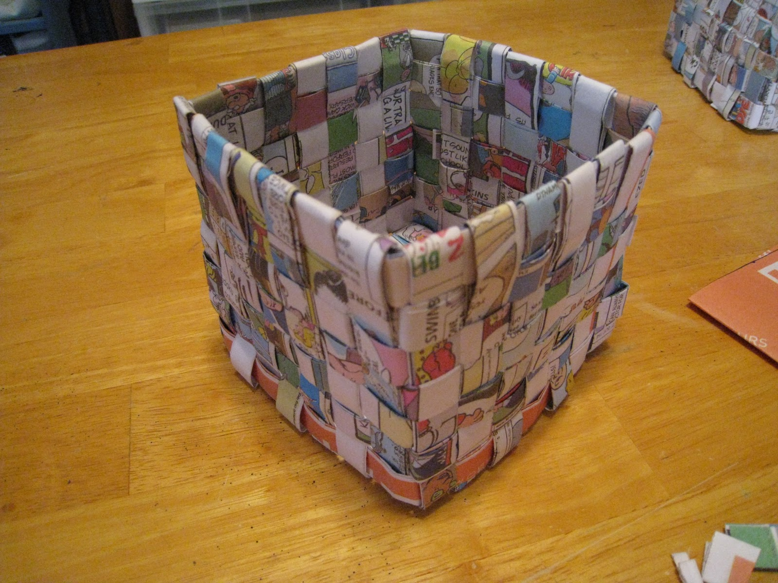 Crafts 4 Camp Newspaper Basket