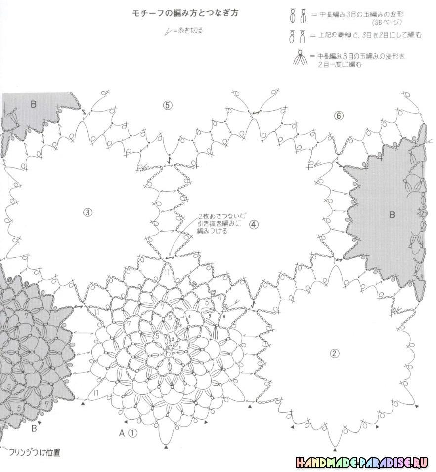 Вязание крючком. Японский журнал со схемами