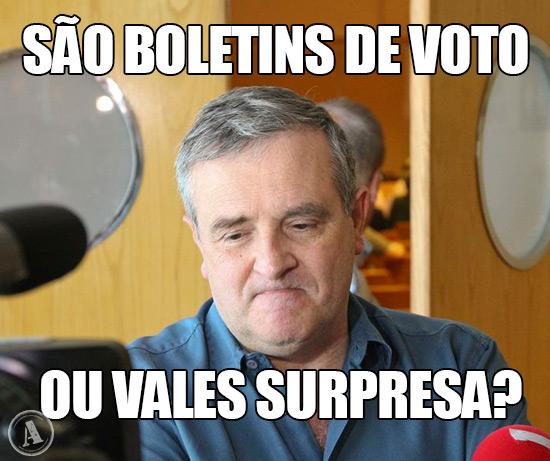 Foto de Ricardo Sá Fernandes - São Boletins de Voto, ou Vales Surpresa?