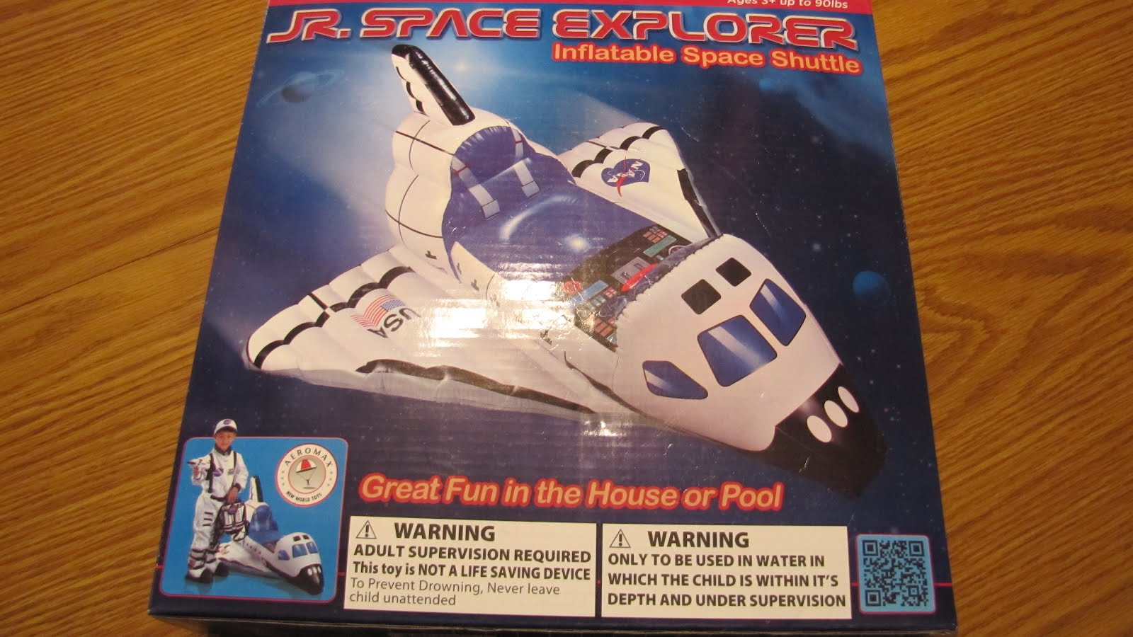aeromax jr space explorer inflatable space shuttle review