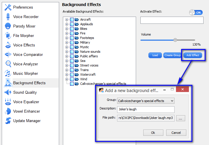 Add Background Effects to Real-time Calling Using Call Voice Changer