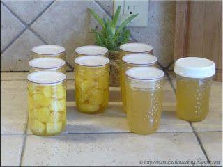 home canned pineapple pieces and pineapple jelly