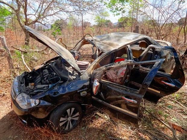 Acidente em Riachão das Neves deixou um morto e quatro feridos (Foto: Jadiel Luiz/Blog Sigi Vilares)