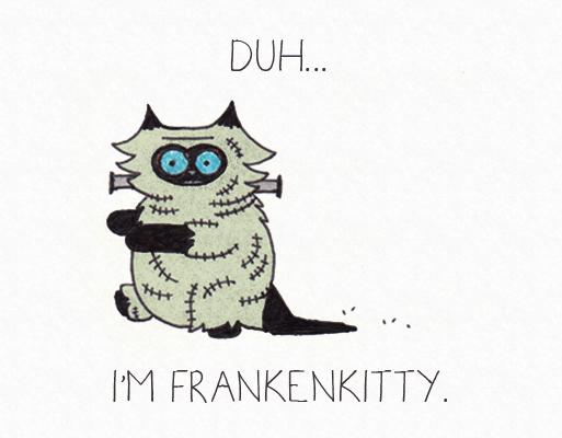 Halloween Frankenkitty