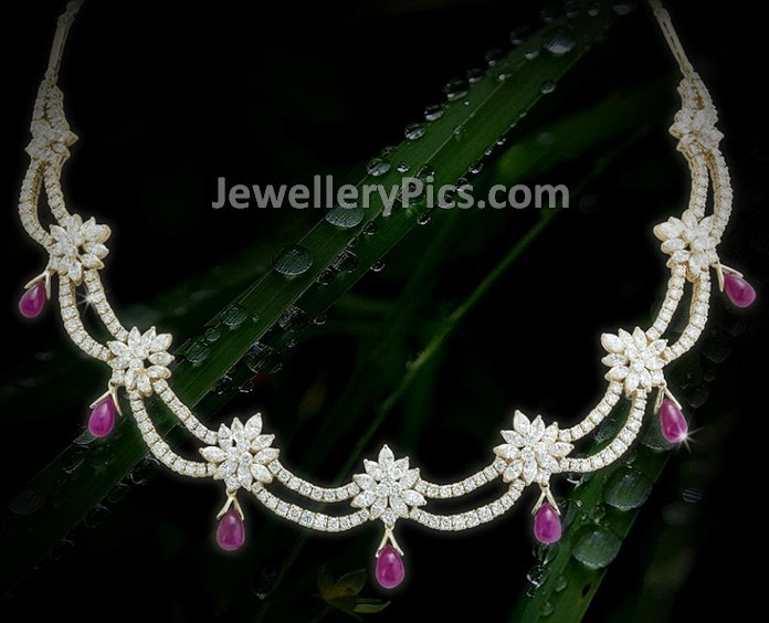 simple diamond necklace