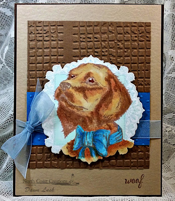 Stamps - North Coast Creations Santa Paws, Our Daily Bread Designs Ornate Borders and Flowers, ODBD Custom Ornate Borders & Flower Die