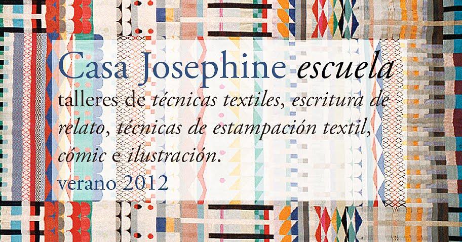 Talleres en verano: escritura de relatos, ilustración, cómic, estampación textil. En Casa Josephine.
