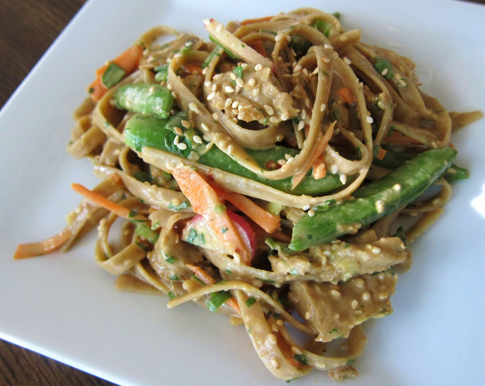 ... and Sea Salt: Spicy Thai Peanut Noodles with Chicken Style Seitan