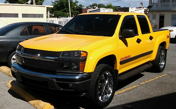 Yellow Chevrolet Colorado