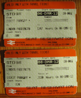First Great Western train seat reservation oddities, UK