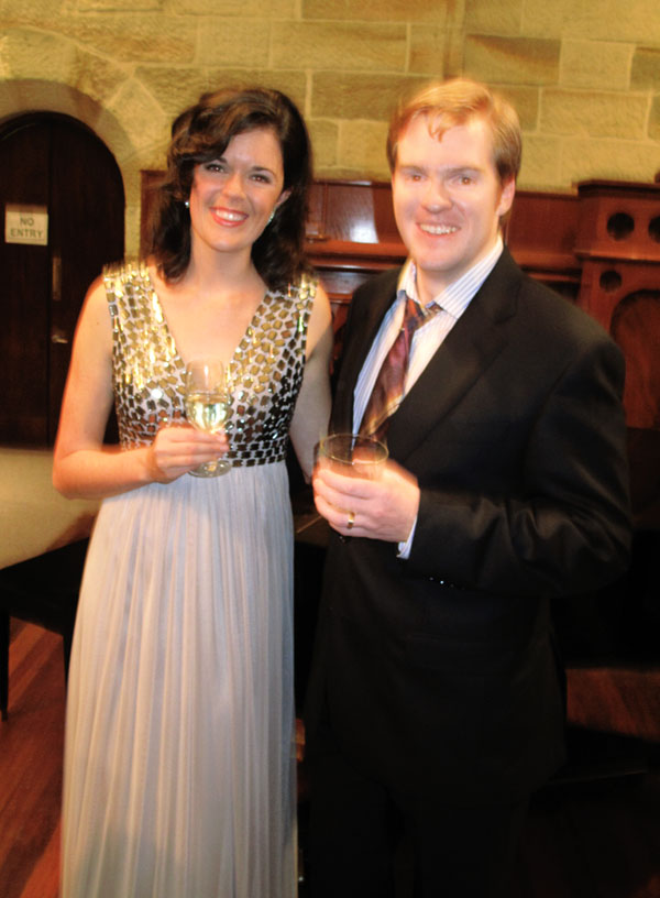 Valda Wilson and Andrew Finden after their recital of Opera songs, August 15 2011 at the Paddington Uniting Church Paddington Sydney.