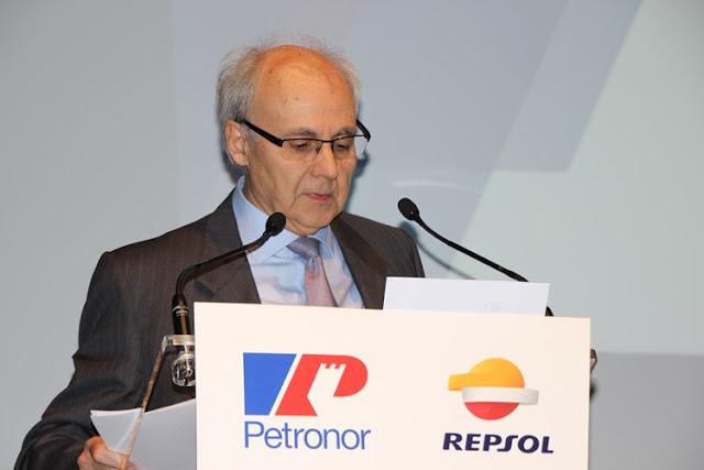 Andreu Puñet, consejero delegado de Petronor, presentando la jornada.