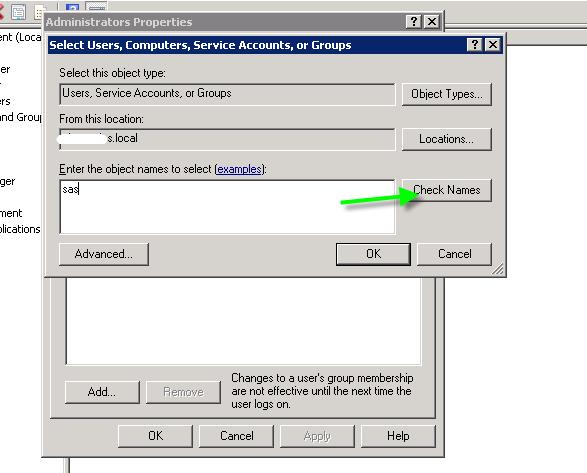 add windows user to ora_dba group