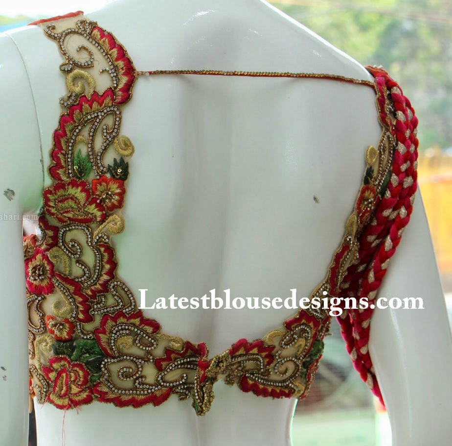 latest bridal saree blouse patterns