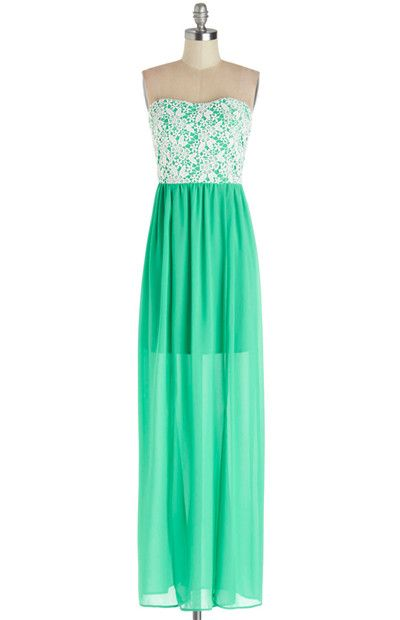 Stylish Strapless Maxi Dress