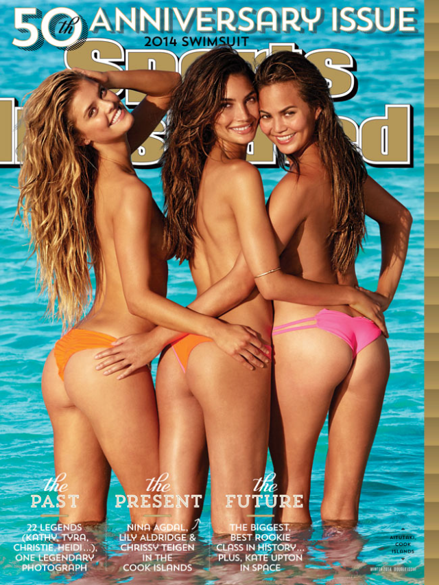 Nina Agdal, Lily Aldridge y Chrissy Teigen en Sports Illustrated Swimsuit nos muestran sus traseros