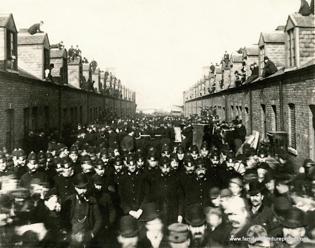 The original Silksworth evictions protests. Photo: The Beamish Museum